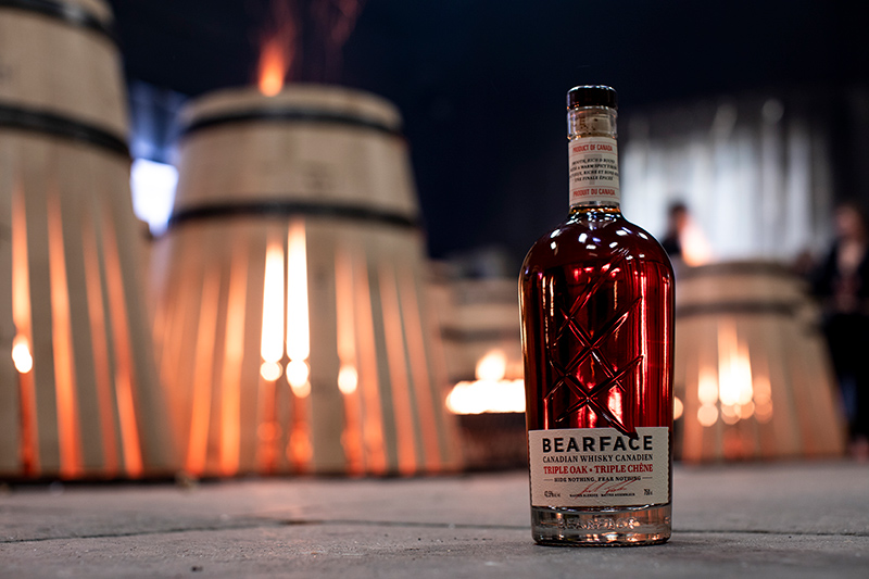 Bearface Canadian Whisky cooperage oak barrels