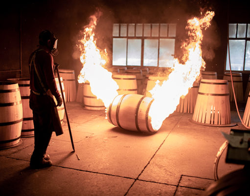 Bearface Whisky cooperage toasting oak barrels
