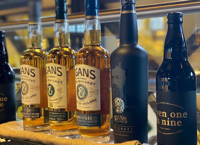 Egan Irish Whiskey line up